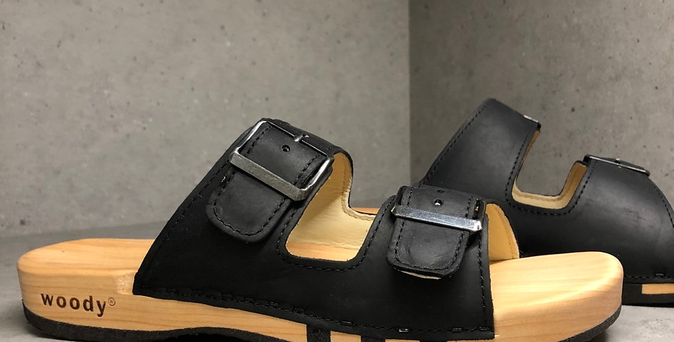 Locally Handmade Italian Straped Sandal - UNISEX - Nero
