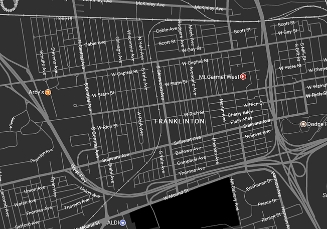 Map for Lower Lights Salon Franklinton