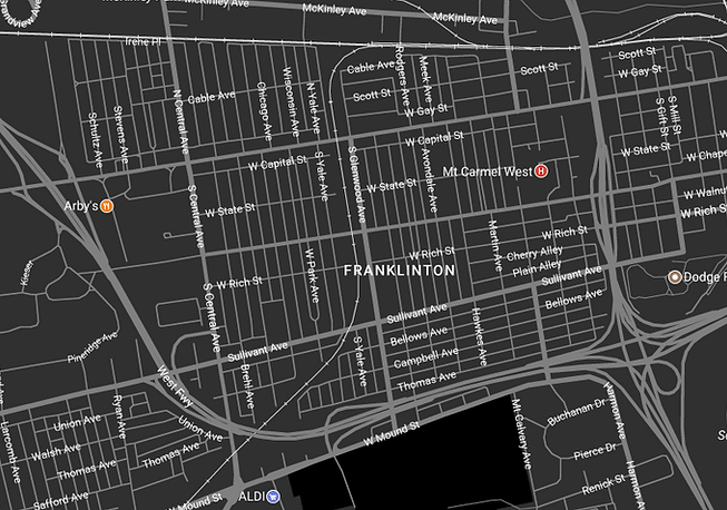 Map for Lower Lights Salon Franklinton