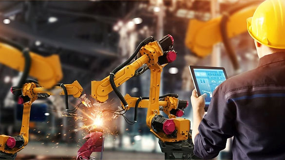 engineer-check-and-control-welding-robot