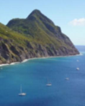 Well's Bay Sab Moorings off Saba's western shore - Image by malachy multimedia n.v.