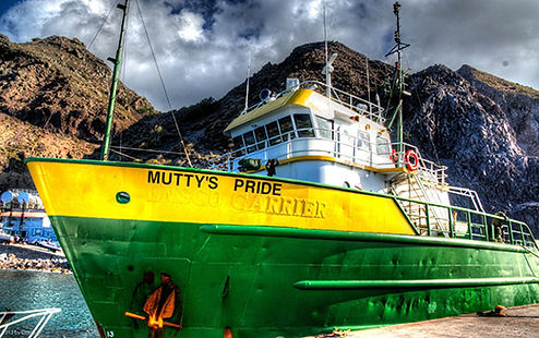 Mutty's Pride ships cargo to Fort Bay Harbor Saba every Wednesday Image by Chaz Sin https://chazsin.com/
