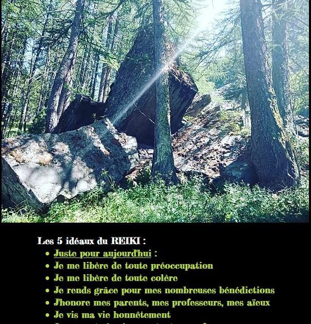 les 5 idéaux du Reiki