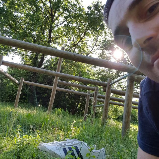 Cours en plein air, l'été :-)