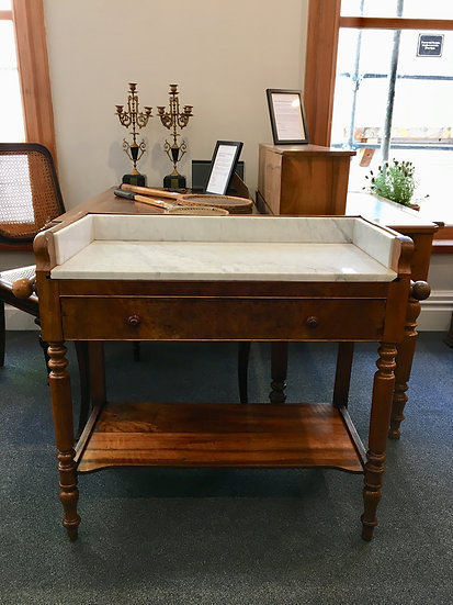 Lady Desk With White Marble Top - SOLD