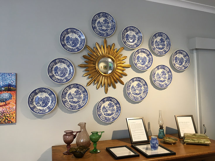 Set of 12 Delft Style Plates (Germany) - SOLD