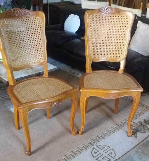 Set Of Six Louis XV (1715-1775) Style Cane Dining Chairs - SOLD