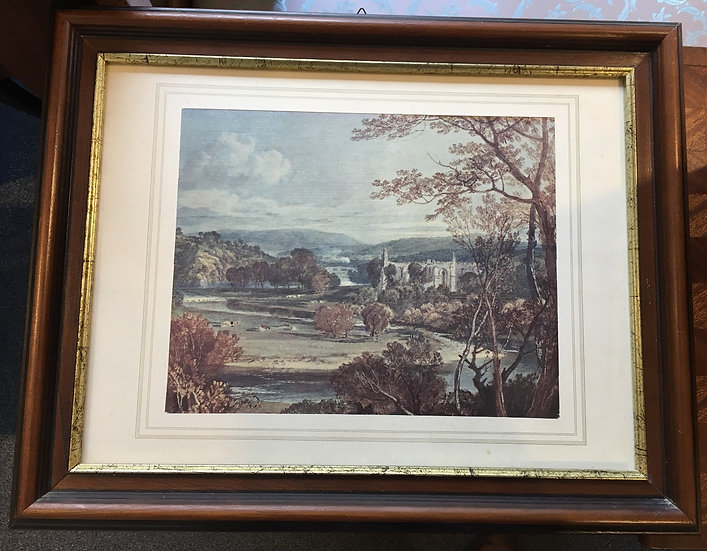 Avignon's Palace of the Popes - Italian Toile Marouflée - SOLD