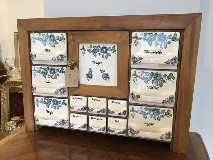 Spices and Condiments Wall Storage with Ceramic Drawers - SOLD