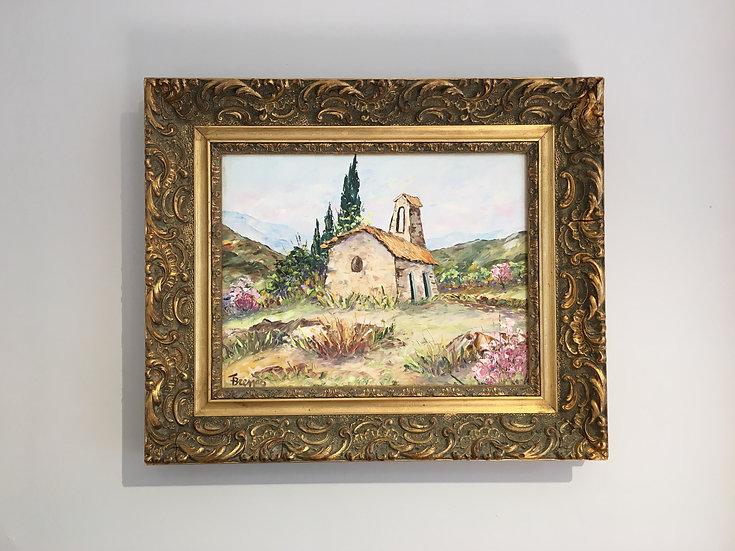 SOLD - Oil On Canvas - Fernand Brenas - La Chapelle