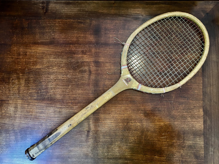 County Decorative Wooden Tennis Racket