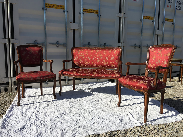French Settee - 1 Bench & 2 Chairs -SOLD