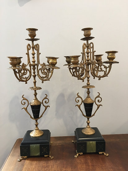 Pair Of French Candelabra - SOLD