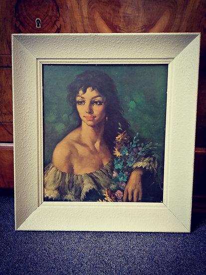 Gypsy Lady in a White Frame