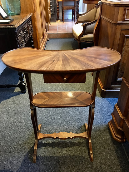 Kidney-Shaped Table With Rosewood Inlay - SOLD