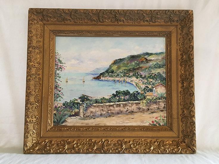 Oil On Canvas - Fernand Brenas - Bord De Mer