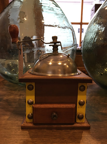 Coffee Grinder With Riveted Corners