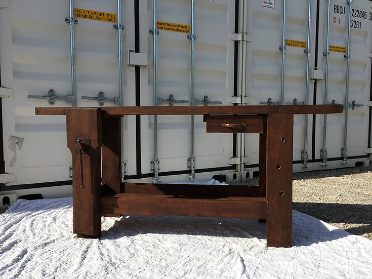 SOLD - Carpenter's Workbench - Dark Stained Wood