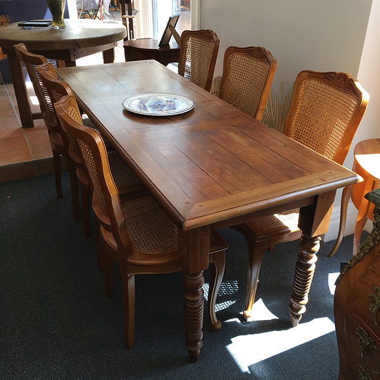 Narrow Walnut Dining Table - SOLD