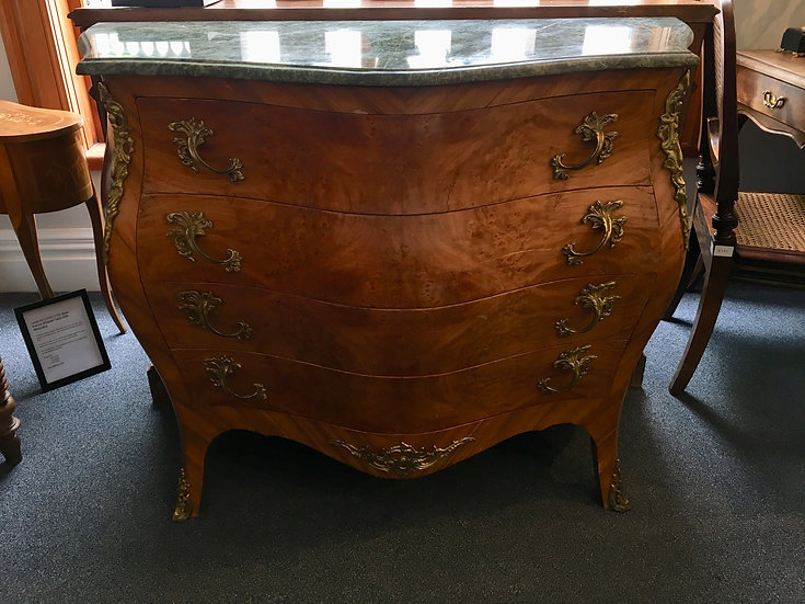 """French Regency (1700-1730) Style """"Bombe"""" Chest of Drawers"""