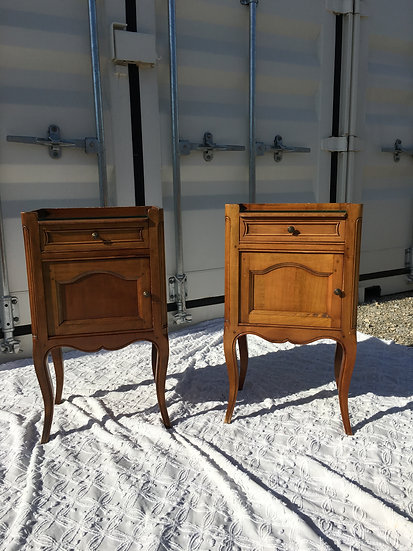 Pair of Bedside Tables - Walnut Wood - SOLD