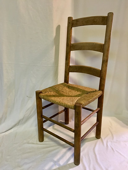 SOLD - Set of Six Rush Seat Chairs