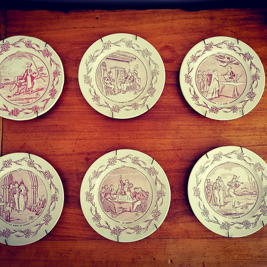 The Wedding - 6 Decorative Plates