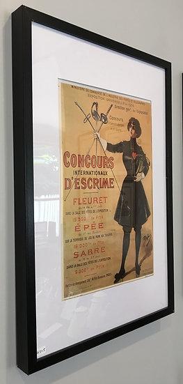 Framed Original Vintage French Advert - SOLD
