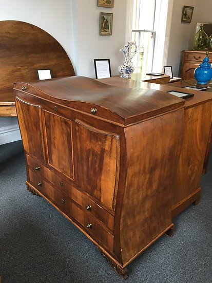 Art Deco Style Chest of Drawers With Curved Lid