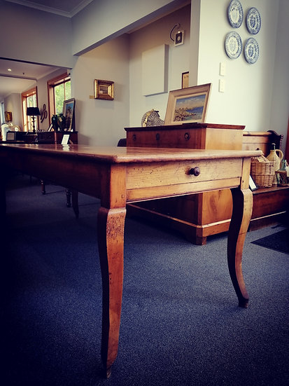 19th Century French Oak Dining Table - SOLD
