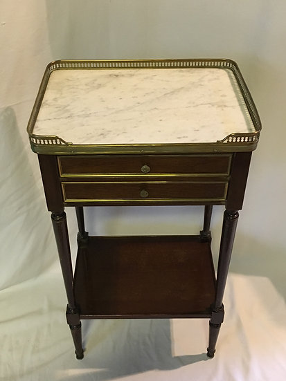 SOLD - Napoléon III Style Side Table With White Marble Top