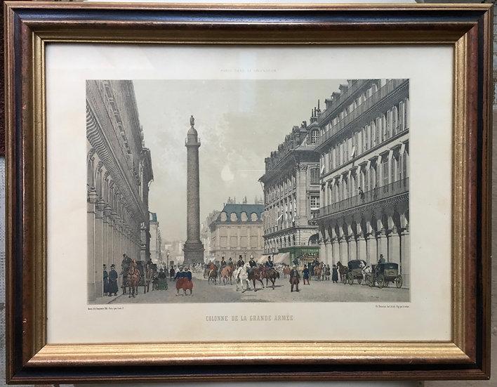 Engraving - Colonne De La Grande Armée (Paris) - SOLD