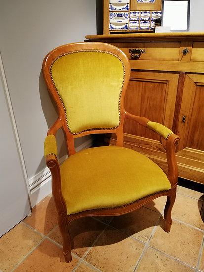 Mustard Velvet Voltaire Armchair - SOLD