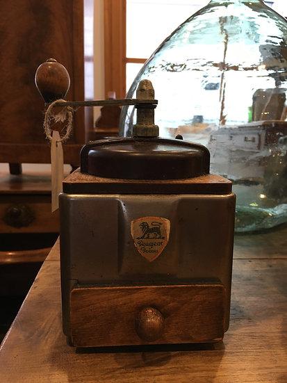 Grey 1950s Peugeot Coffee Grinder - SOLD