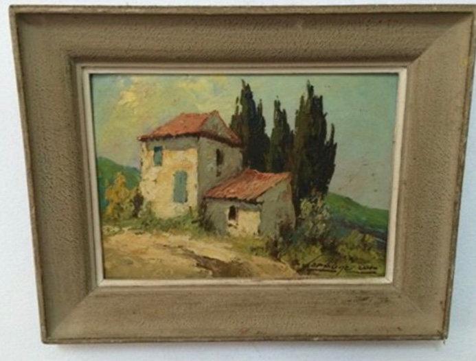 Painting by Fortuné Car - Provençal House - SOLD