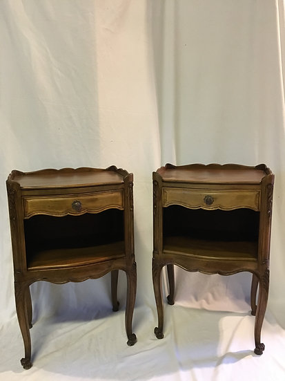 Pair of Walnut Bedside Tables - SOLD