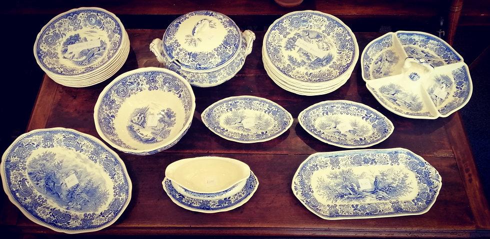 German Burgenland Blue & White Dishes - SOLD