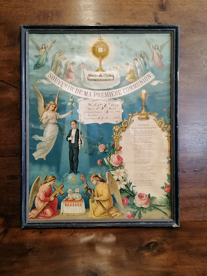 Religious - First Communion Certificate (Year 1901)