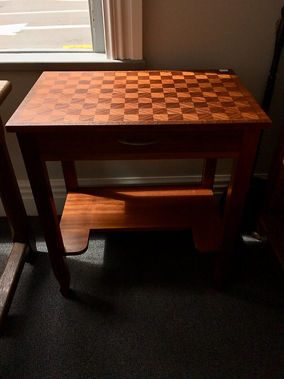 Side Table or Small Desk With Parquetry Top - SOLD