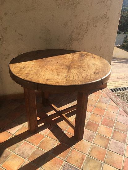Alsacian Round Oak Kitchen Table - SOLD