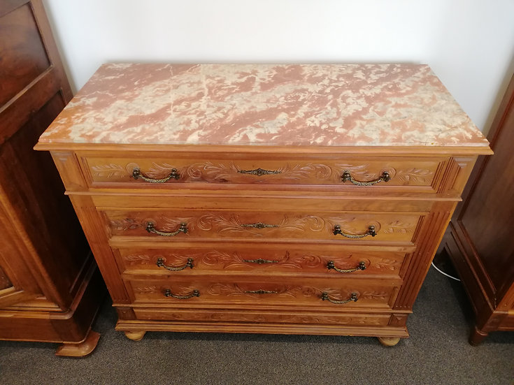 Chest of Drawers - Pink Marble Top