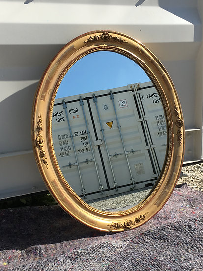 19th Century French Oval Mirror - Medium Size - SOLD