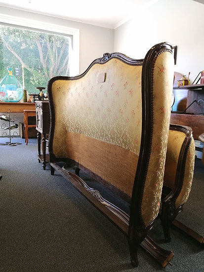 French 1940s Double-Corbeille Bed (Double or Queen) - SOLD