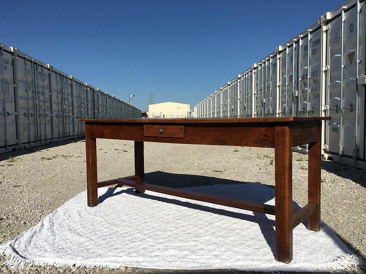 Long Rectangular Farm Table - Chestnut Wood - SOLD
