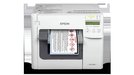 Epson ColorWorks C3510 Color Label Printer Ink Cartridges (CMYK)
