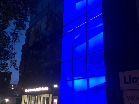 City of Coventry Health Centre turning blue