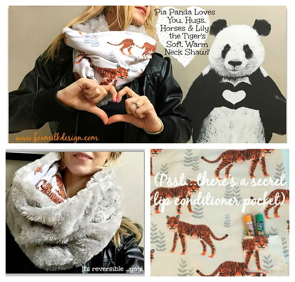 Lily The Tiger's Soft Warm Neck Shawl