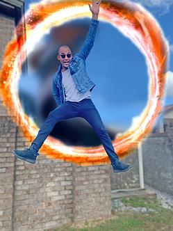 Irving Gil jumping out of Dr. Strange portal