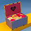 Thumbnail: Powder - Ladies Delicate Floral Mustard Sock Box