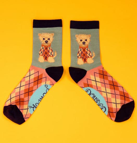 Powder - Argyll Westie Ankle Socks